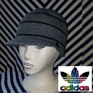 Unisex Adidas Hat Striped Brimmer Beanie Free Size